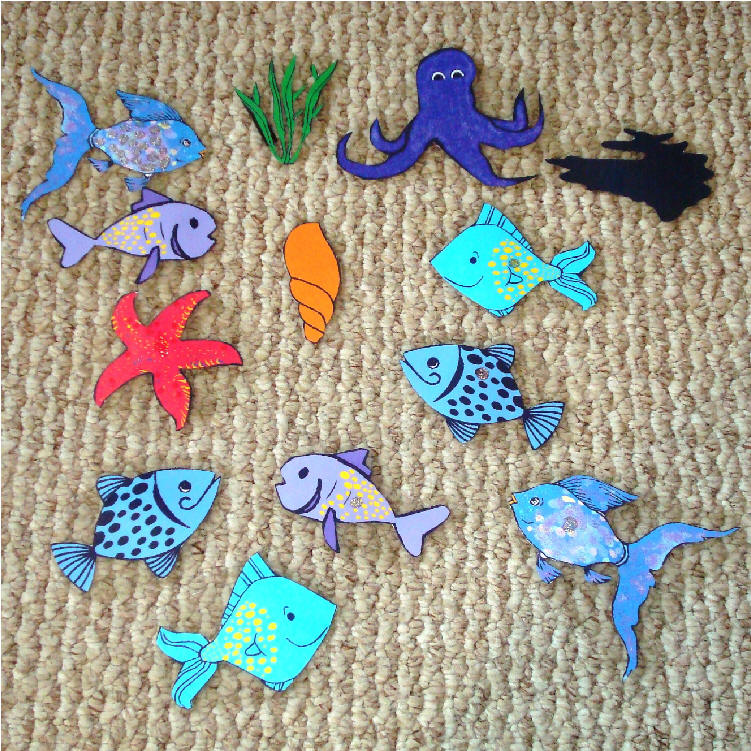 Flannel boardsetsnew for Rainbow fish story
